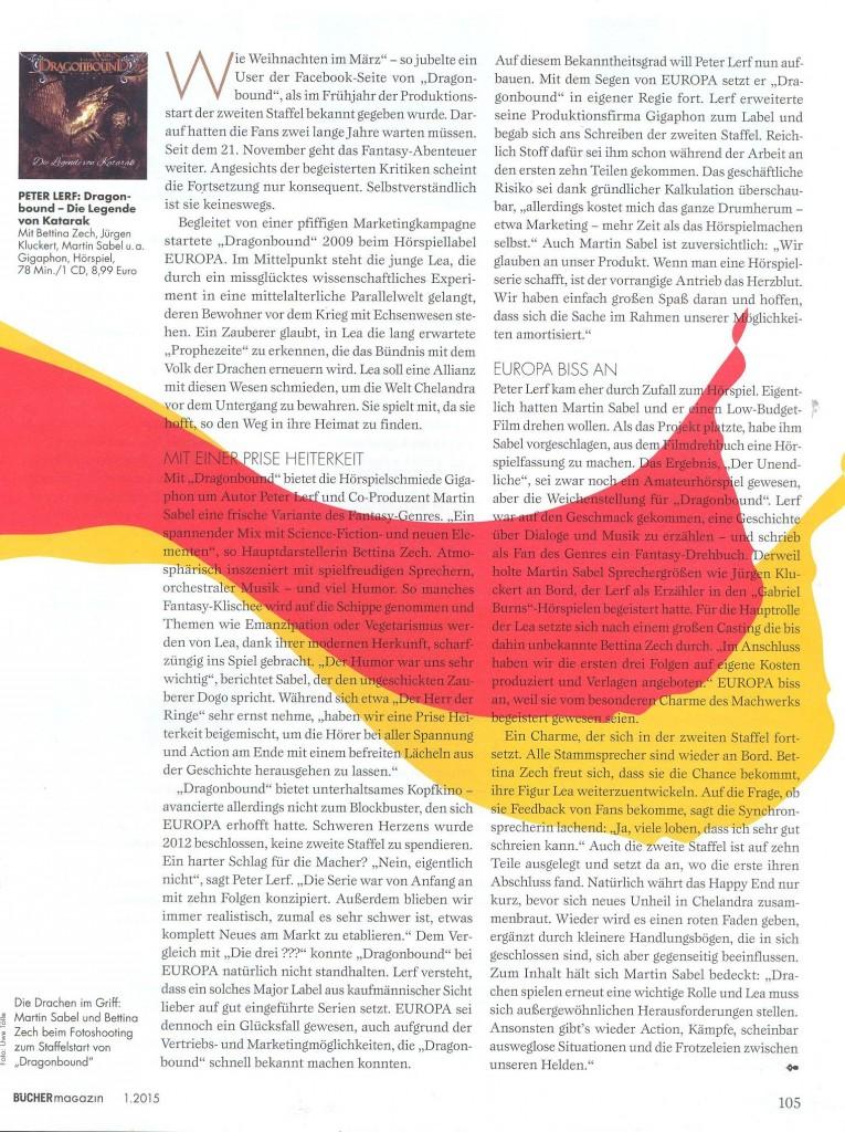 Artikel im Hörbücher Magazin